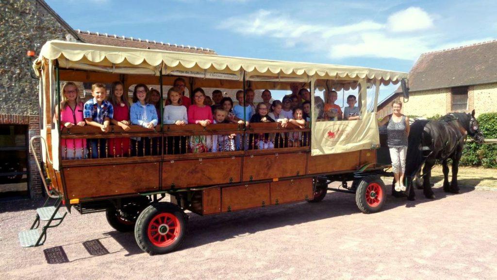 Transport d'enfants allant à l'école