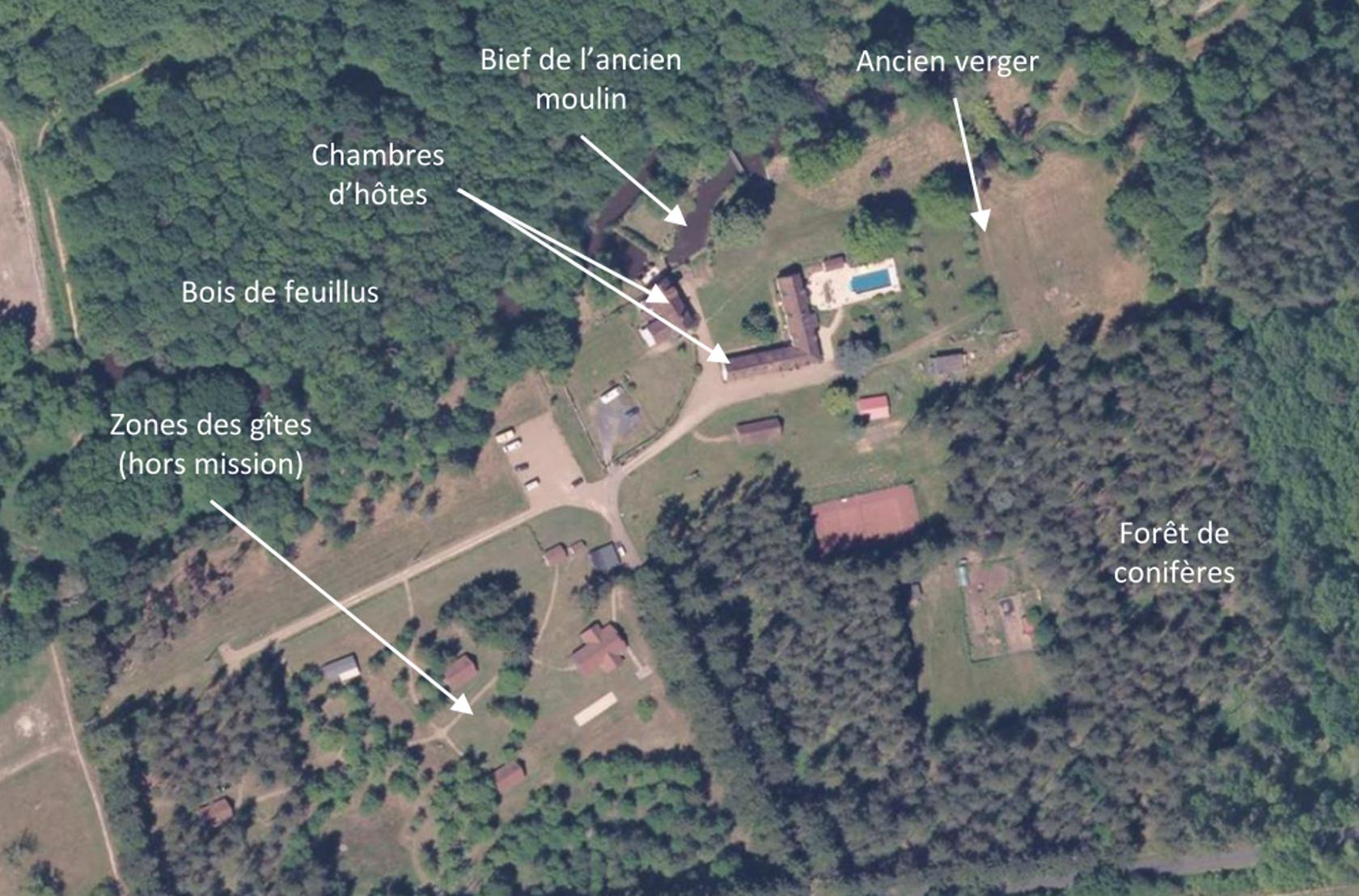Plan de l'ancien moulin actuel